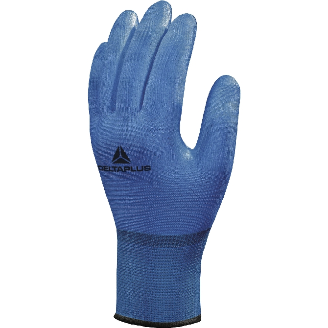 POLYAMIDE KNITTED GLOVE - PU-COATING PALM (VECUT10BL)