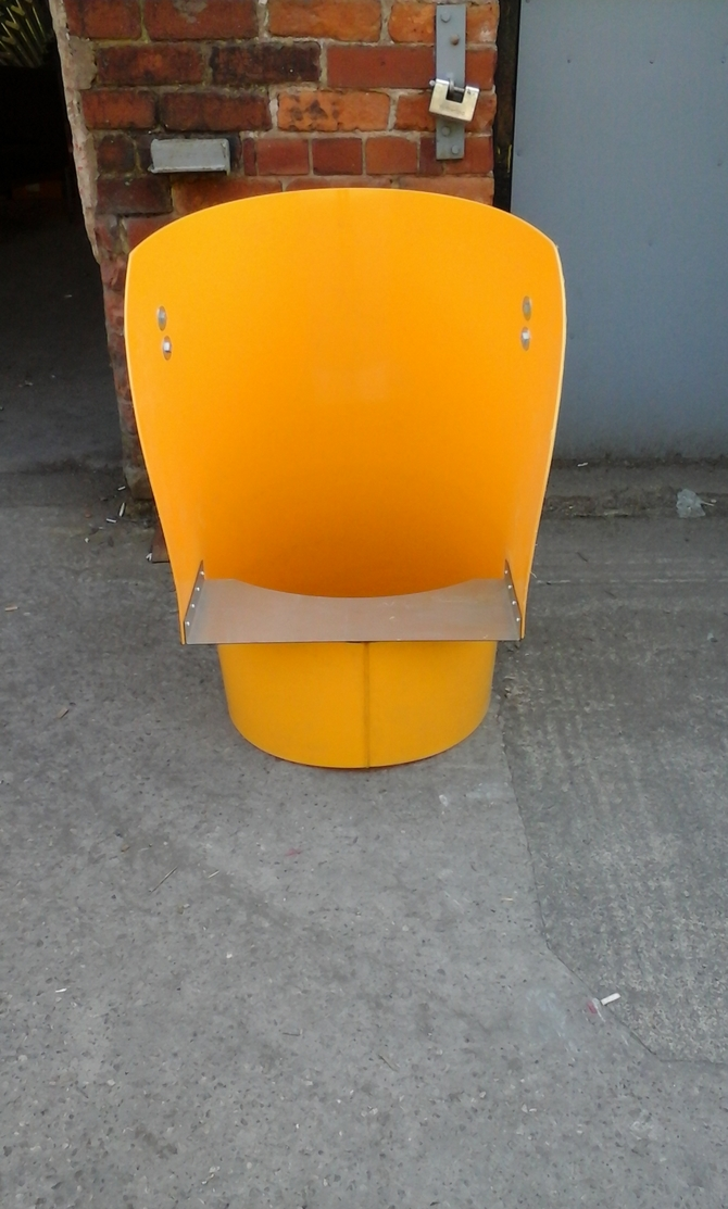 RUBBISH CHUTE TOP HOPPER YELLOW