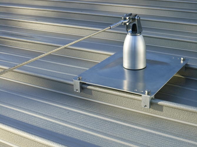 Installed Horizontal Life Line And Rail Systems Roofsafe