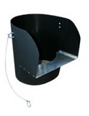 RUBBISH CHUTES TOP HOPPER BLACK